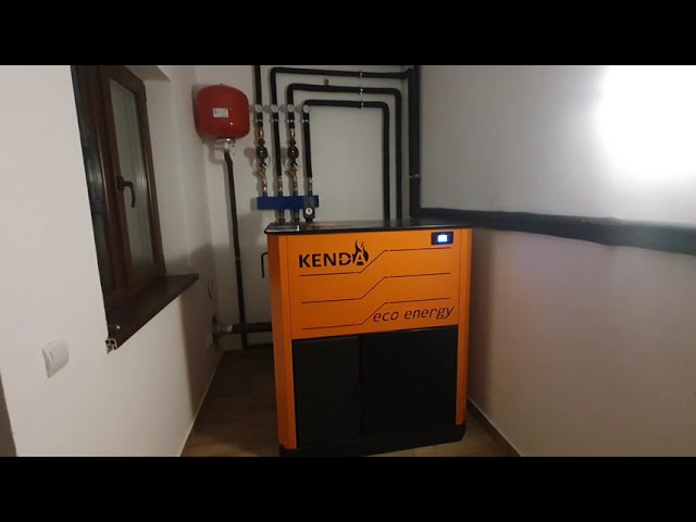 Centrala pe peleti Kenda 35 kw - suprafata incalzita 250 mp - Montaj  si functionare Kenda 35kw