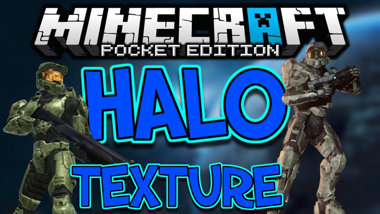 0.10.5 Halo Texture Pack! - Minecraft Pocket Edition (DOWNLOAD) - YouTube