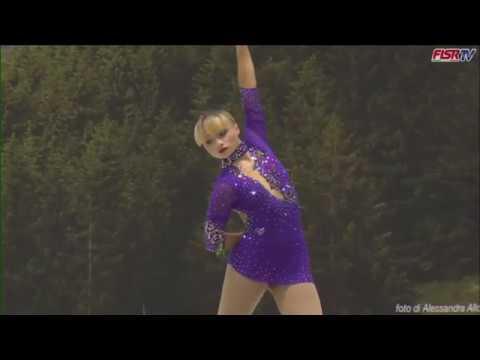 Rebecca Tarlazzi - Free skating - jeunesse ladies - campionato Italiano Roana 2016