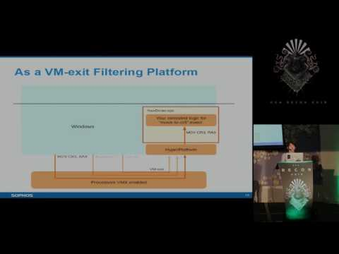 REcon 2016 - Monitoring controlling kernel mode events by HyperPlatform (Satoshi Tanda)