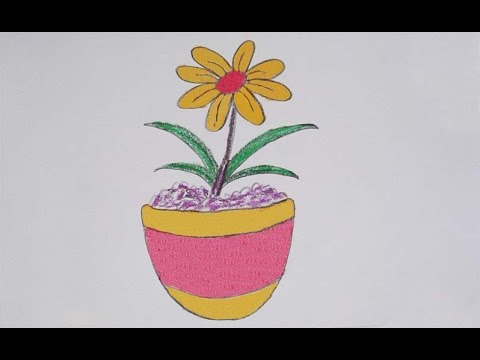 how to draw a flower easy step by step youtube