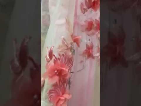 Áo dài cô dâu hồng cam