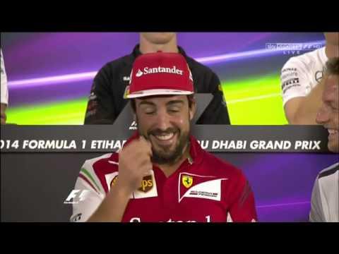 F1 Exhibit - Abu Dhabi GP drivers press conference 2014