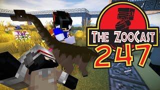 Minecraft Jurassic World (Jurassic Park) ZooCast - #247 RyGuyRocky's THIRD DINOSAUR!
