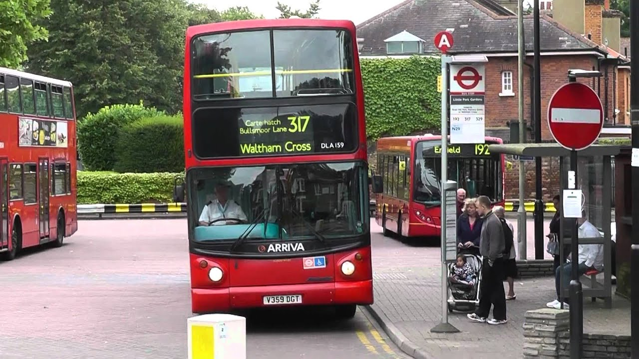 arriva lf52upn & v359dgt enfield town route 317 on 7th august 2012