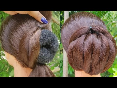 New Wedding Bun Hairstyle With Trick | Easy And Beautiful Hairstyle | Juda Hairstyle |