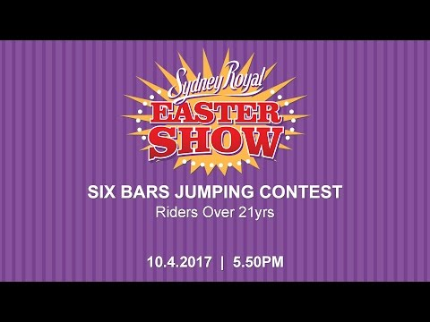 Six Bars Jumping Contest, riders over 21 yrs.