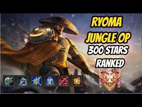 RYOMA JUNGLE OP | HITTING 300 STARS + 20 WS | Darkbreaker Conqueror Ranked Top 20 | Arena of Valor