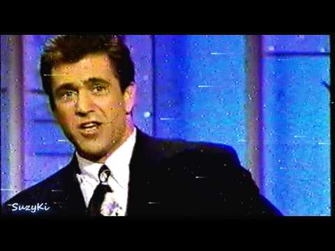 """Mel Gibson and Robert Downey Jr. promoting  """"Air America"""" 1990 Part 1 of 2"""