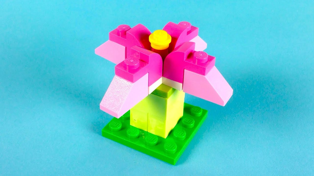how to make lego flowers