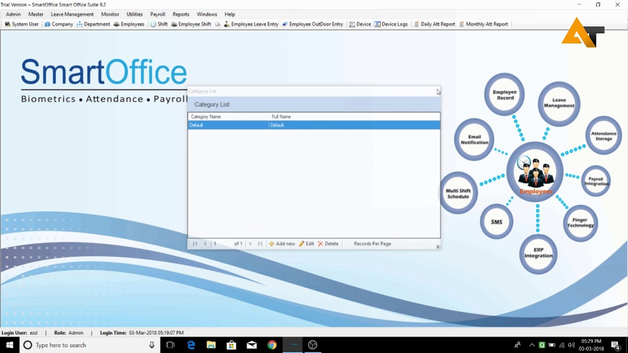Essl Smart Office Tutorial [Part 2] [Admin and Master Settings]