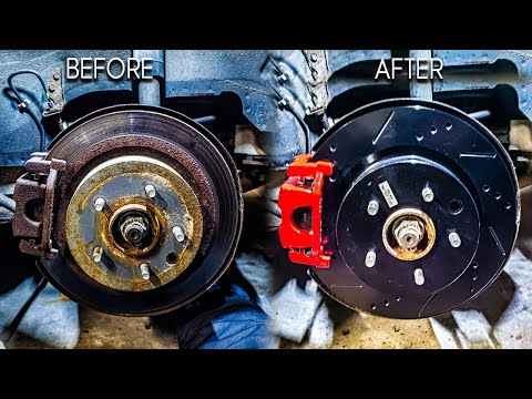 How to replace Rotors, Calipers and Brake lines infiniti G35 Nissan 350z