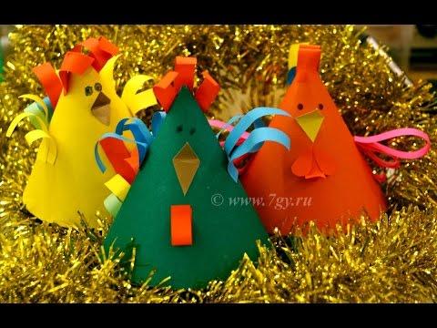 Петух из бумаги - новогодний мастер-класс к году Петуха или на Пасху
