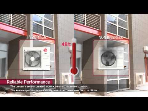 LG air conditioning unit inverter technology