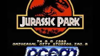 Jurassic Park (NES) Music - Ocean Logo Intro