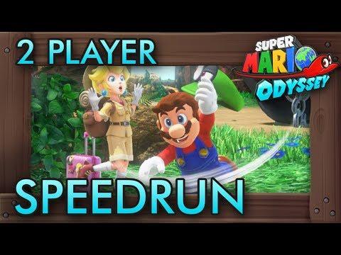 Super Mario Odyssey - 2 Player Co-Op Speedrun (Any% in 1:17:47)