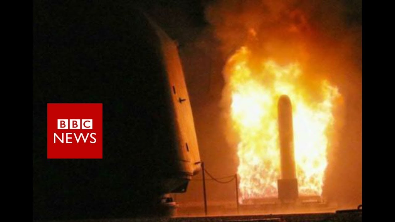 Syria strikes: 12 hours in two minutes - BBC News - YouTube