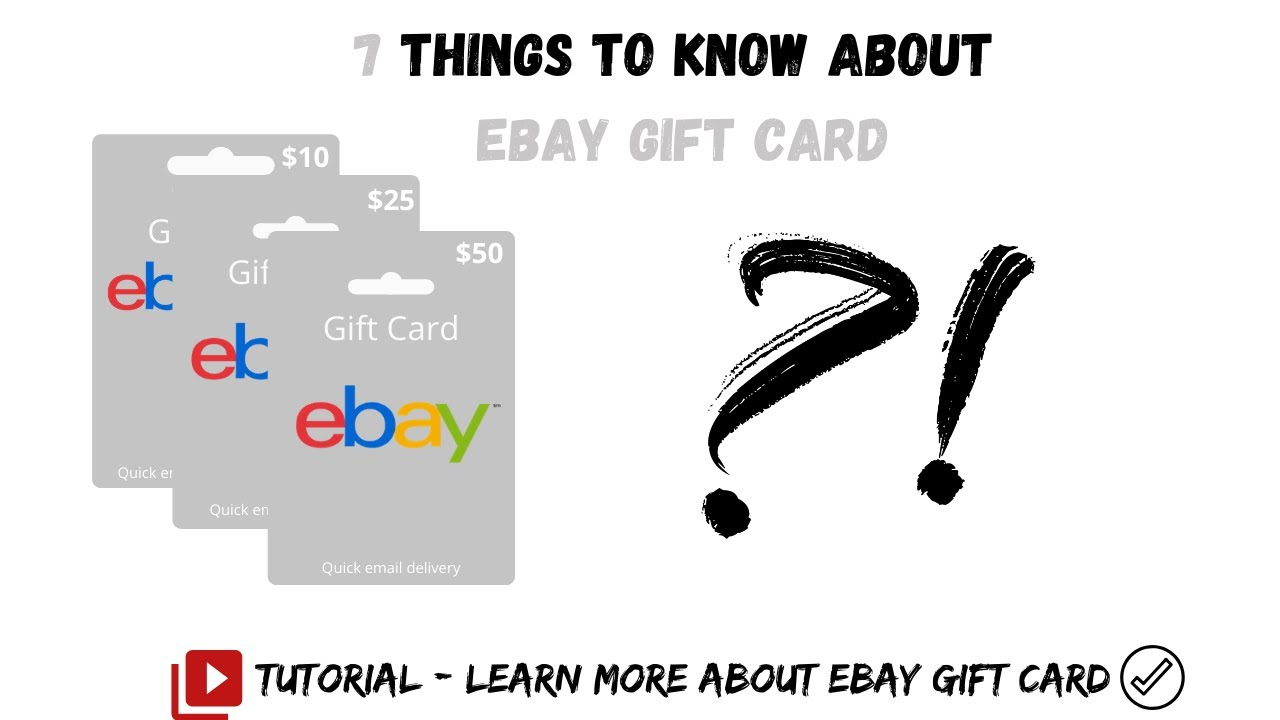 Ebay Gift Card Balance Check And Redeem