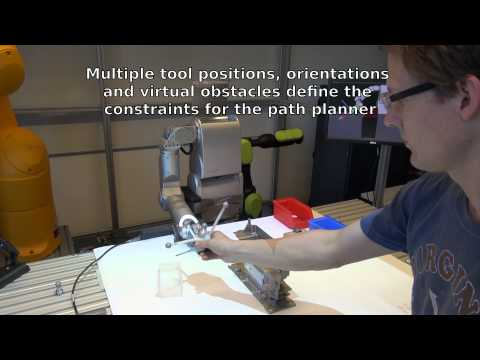 Intuitive Robot Tasks with Augmented Reality and Virtual Obstacles