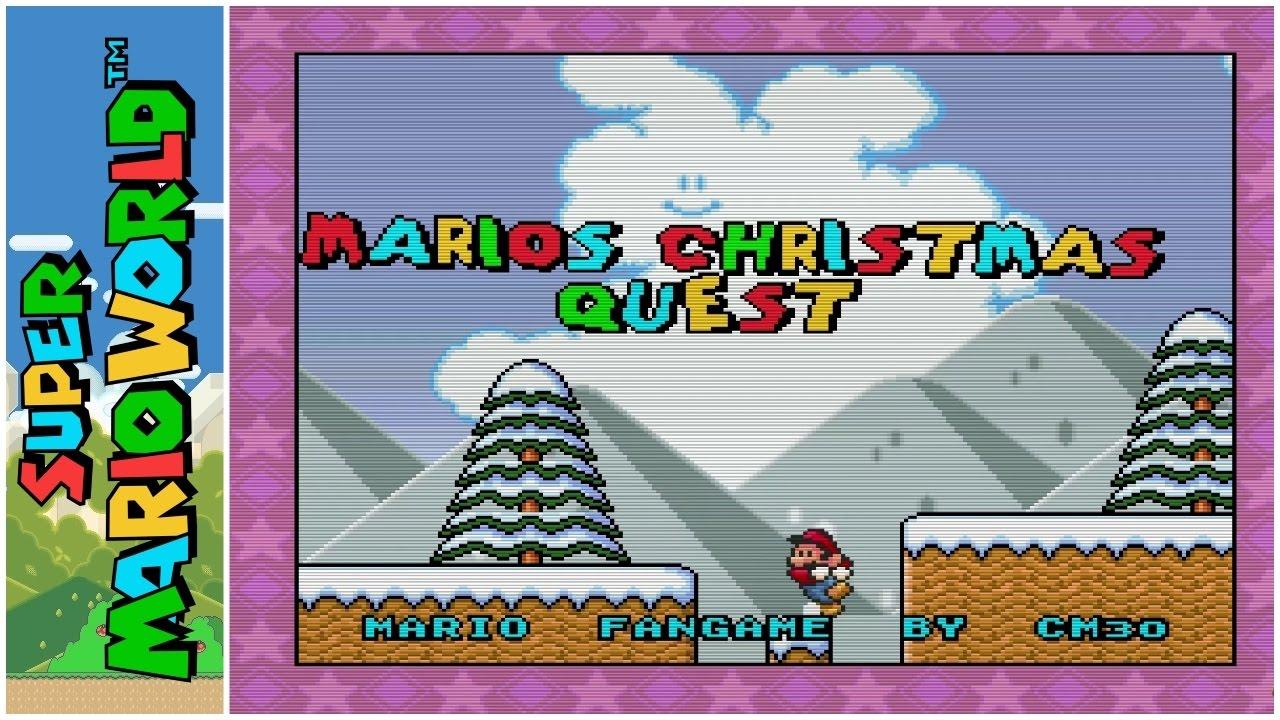 Super Mario World Christmas.Mario S Christmas Quest Adventure 2013 Super Mario World Hack