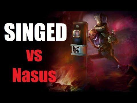 Singed vs Nasus - 9/1/6 Hard Carry