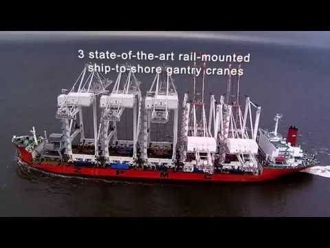 Something Big Is On The Horizon - Gantry Cranes Arrive at the Port of Gulfport