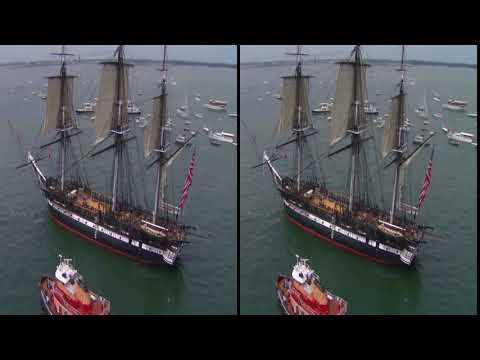 3D Video 200 Year Old Active Duty U S  Navy Ship USS Constitution