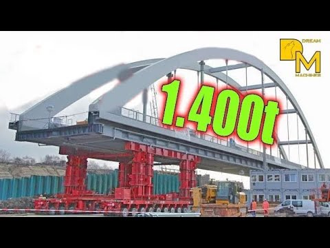 1400 ton MEGA SCHWERTRANSPORT BAUSTELLE DOKU NEUE EISENBAHN BRÜCKE #2