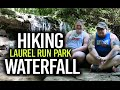 HIKING TO A WATERFALL (Laurel Run Park Waterfall)