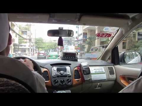 Vietnam Taxi Driving in Saigon Ho Chi Minh City FULL HD
