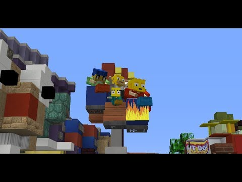 The Simpsons Ride in Minecraft The Palace Network Server