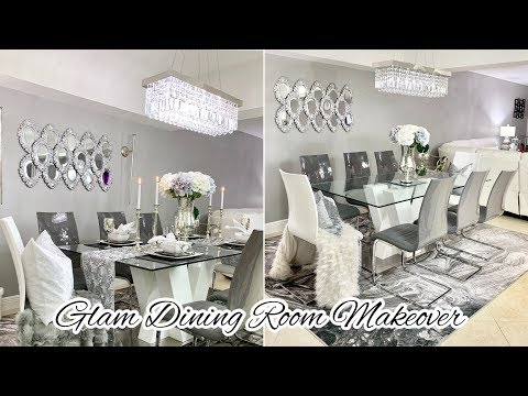 GLAM DINING ROOM DECORATING IDEAS MAKEOVER 2019