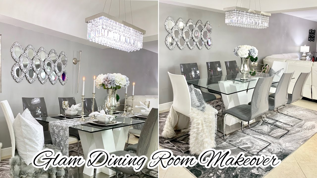 Glam Dining Room Decorating Ideas Makeover 2020 Youtube