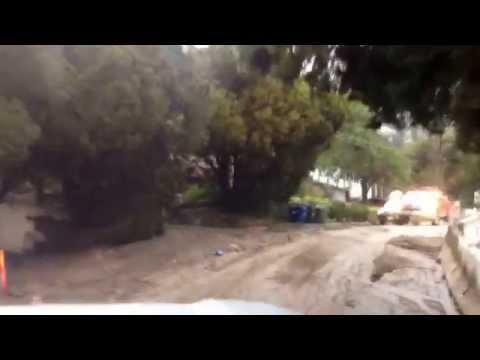 Flooding land slide Monrovia California storm