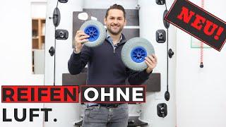 Wechsel Deine Luftreifen. Vollgummi Reifen innen mit PU gefüllt dadurch nie wieder Luftdruckverlust.