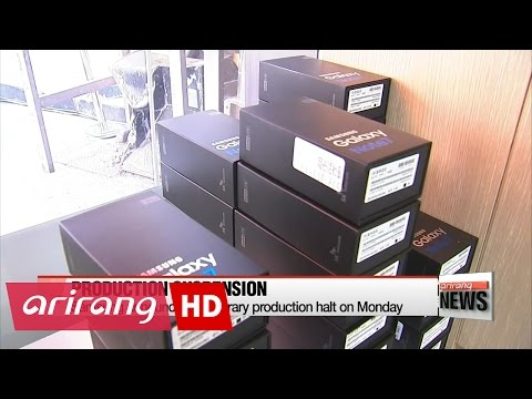 ARIRANG NEWS BREAK 14:00 Samsung Electronics suspends sales, replacements of Galaxy Note 7 worldwide