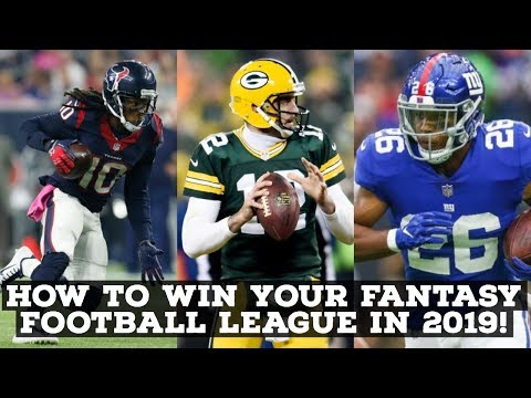 5 Tips On How To Win Your Fantasy Football League In 2019!