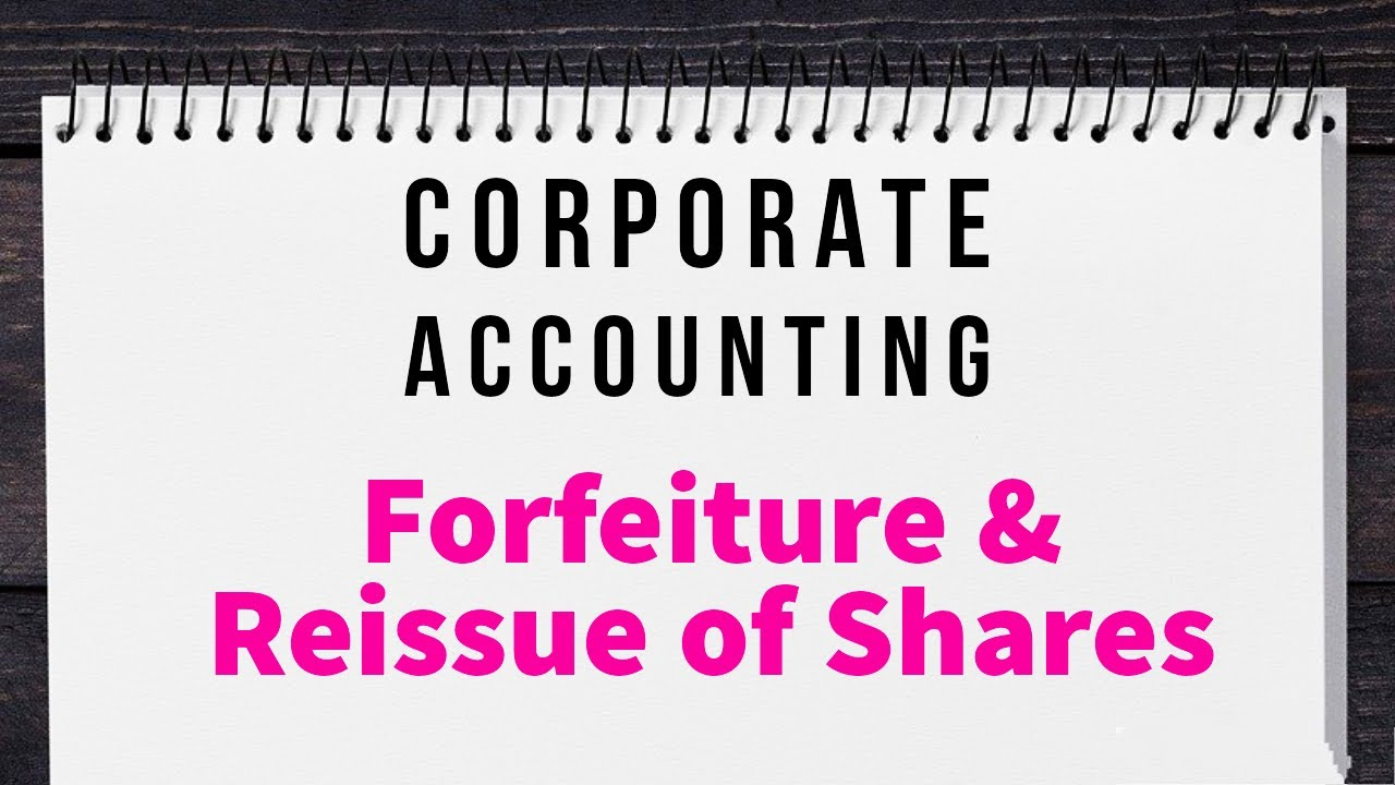 Download Issue of Shares | Forfeiture & Reissue| Problems and Solutions | Corporate Accounting | Pro-rata