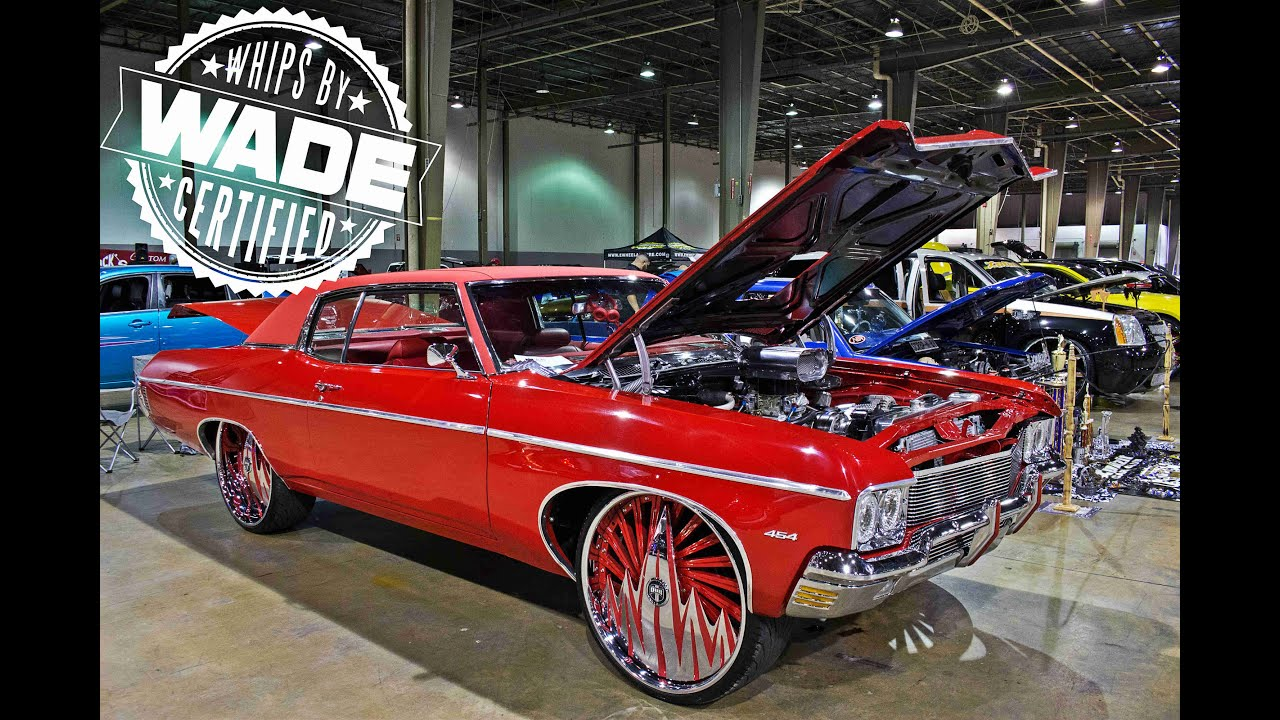 Queen City Carshow Chevrolet Impala On Staggered Spinners - Thomas chevy car show