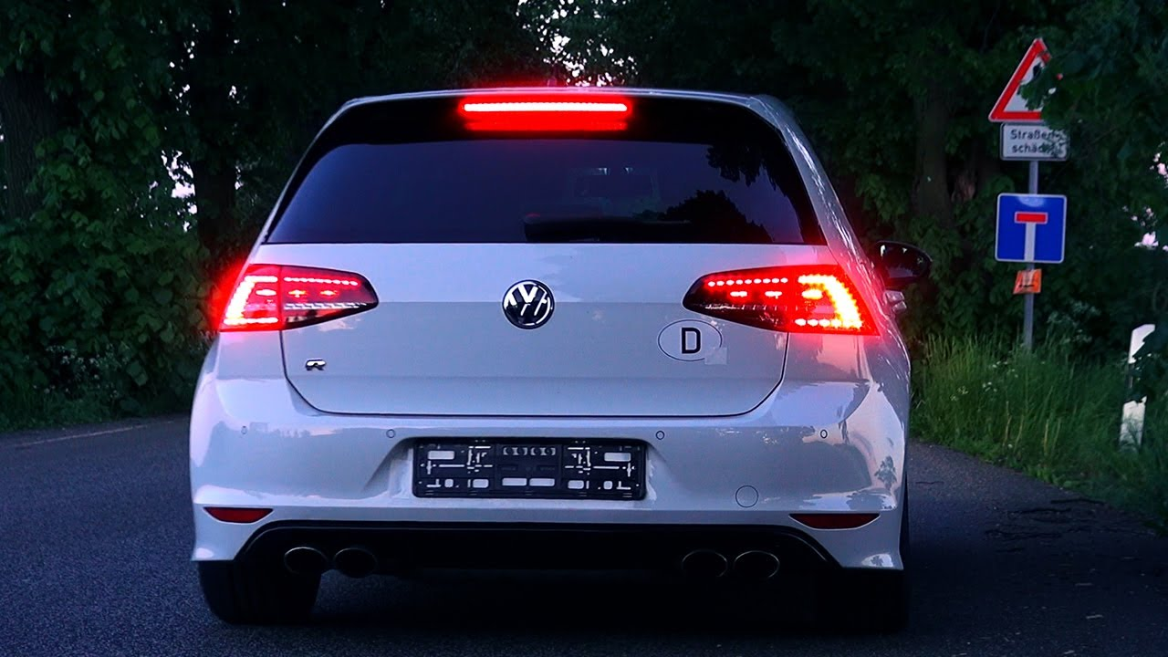 vw golf 7 r launch control start sound beschleunigung dsg volkswagen youtube. Black Bedroom Furniture Sets. Home Design Ideas