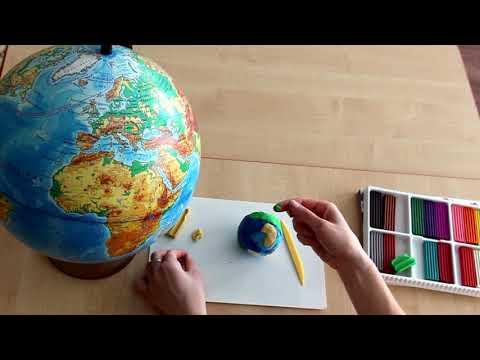 Как сделать глобус из пластилина своими руками видео