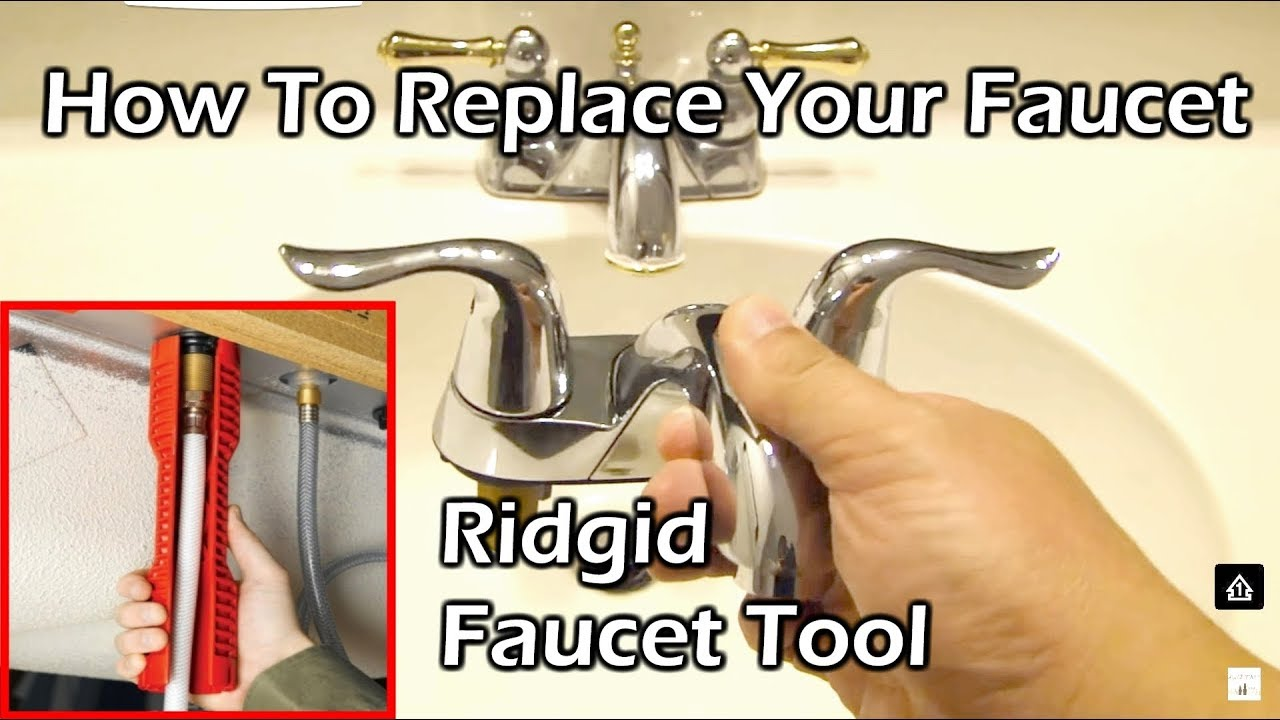 How To Replace Your Faucet Ridgid Sink Installer Multitool Youtube