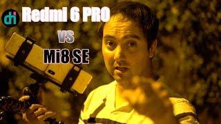 Xiaomi MI 8 SE vs Redmi 6 PRO   PRUEBA de VIDEO FULL HD por la noche