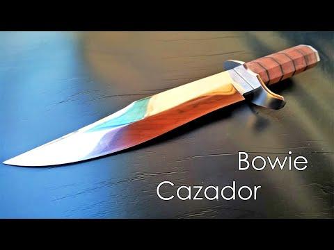 Knife making Bowie hunter