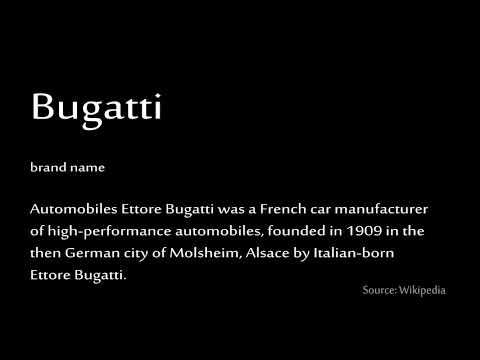 Supercars Gallery: Bugatti Centodieci Pronunciation