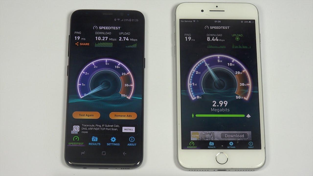 Samsung s8 internet
