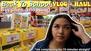 BACK TO SCHOOL SHOPPING vlog + haul (me complaining for 15 min straight ) | maiphammy