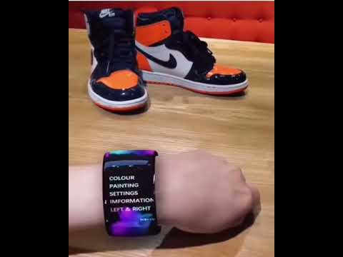 🌴 Color/patter changing Nike shoes with