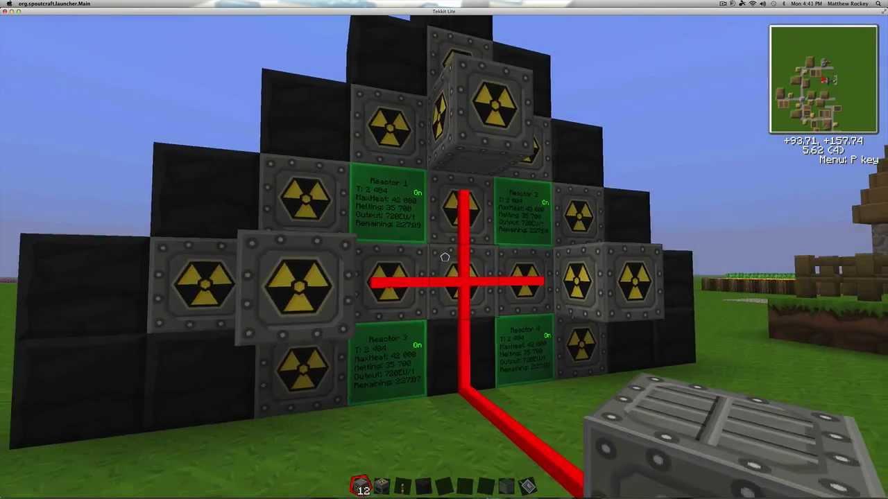 Tekkit Lite Nuclear Power Plant Ic2 Youtube