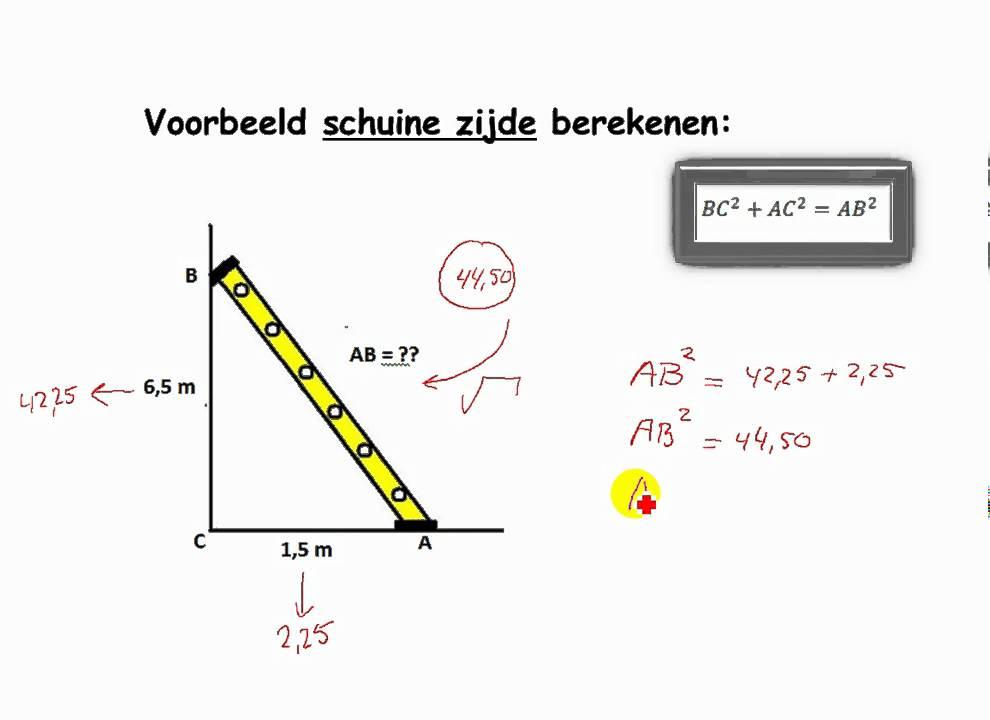 Pythagoras. WzB de stelling van Pythagoras Module M5 - YouTube